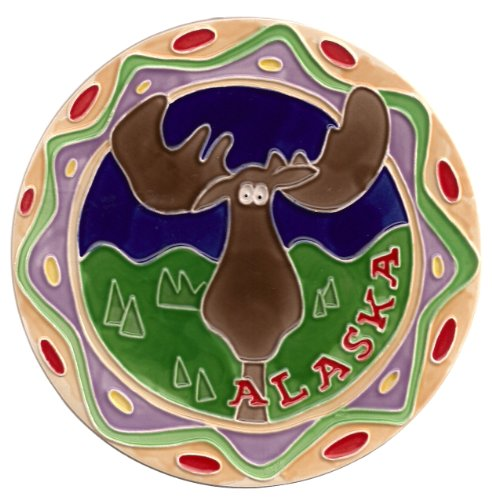 UPC 742691706471, Alaska Moose Round Ceramic Trivet