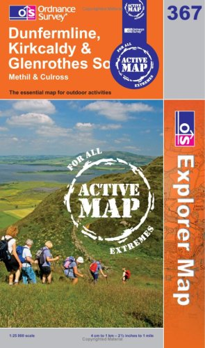 Dunfermline, Kirkcaldy and Glenrothes South (OS Explorer Map Active)