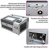 TEN-HIGH CO2 Engraving Machine, 40W 300x400mm Laser Engraving Machine with Exhaust Fan USB Port, Grey