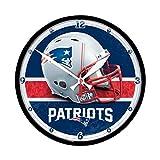 New England Patriots Round Clock