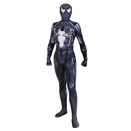 7bd5ade970bd0 QQWE Disfraz De Halloween Disfraz Negro Venom Spiderman Cosplay Ropa  Elástico Body Show De Cine Disfraz De Traje De Fiesta De Disfraces
