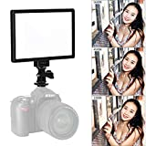VILTROX L116T RA CRI95 Super Slim LED Light Panel,3300K-5600K LED Video Light, LCD Display Screen, with hot Shoe Ball Mount,Color Temperature and Brightness can be Adjusted