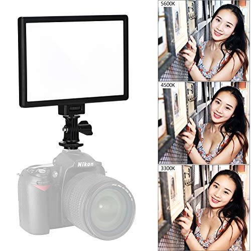 (VILTROX L116T CRI95+ Super Slim Dimmable LED Light Panel,Bi-Color 3300K-5600K LED Video Light with LCD Control/Light Mount)