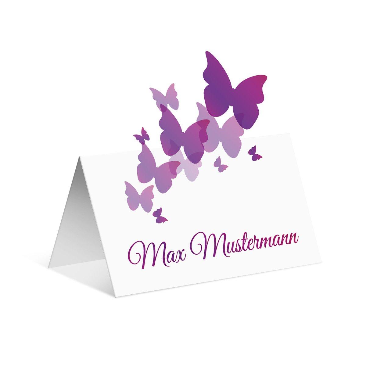 Pop up Tischkarten Hochzeit (40 Stück) - Schmetterlinge - Platzkarten B01MQRKSI5 | Fairer Preis  | Große Auswahl  | Bunt,