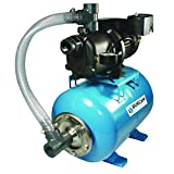 Bur-Cam 506227P 3/4 Horsepower Noryl Shallow Well Jet Pump System Assembled On A 7 Gallons Horizontal Pressure Tank, 115/230V