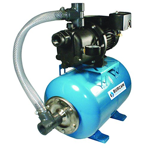 - Bur-Cam 506227P 3/4 Horsepower Noryl Shallow Well Jet Pump System Assembled On A 7 Gallons Horizontal Pressure Tank, 115/230V