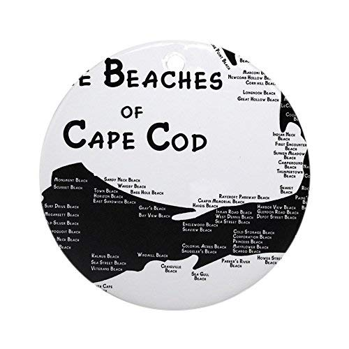Voicpobo Every Beach ON The Cape Christmas Ornaments Round Novelty Ceramic Christmas Tree Decoration Ornament Gifts for Friends,for Family