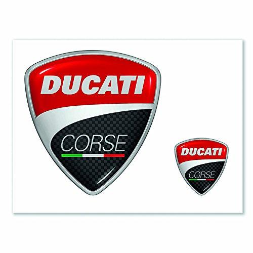 Ducati Corse Sticker - Ducati Corse Logo Flat Decals