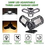 100W Deformable LED Garage Light Ceiling Light Factory Warehouse Industrial Lighting, 10000 Lumen IP65 Waterproof… 9