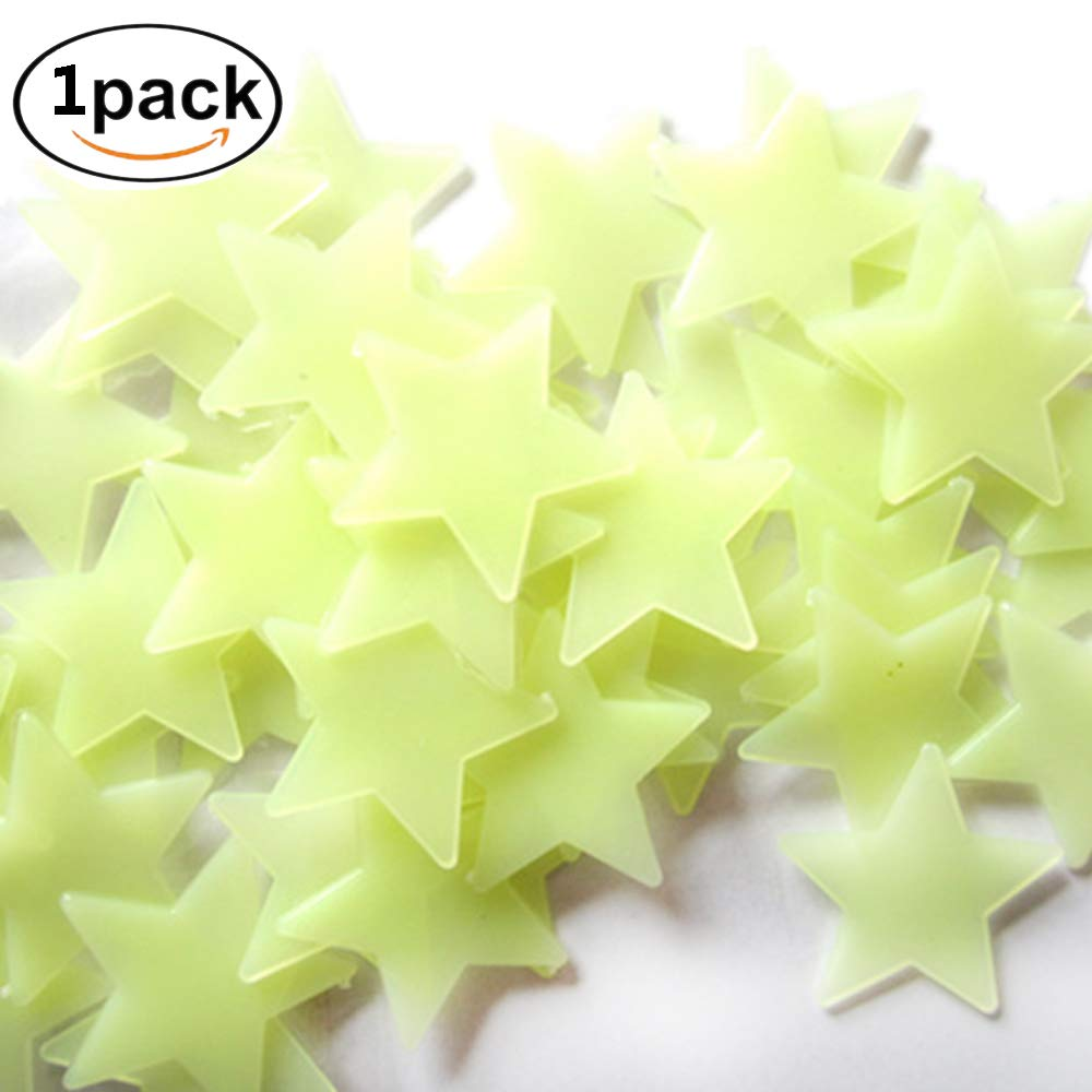 Aofocy Shot-in 100 X Home Parete Soffitto Glow in The Dark Stars Adesivo Decalcomania Baby Camera da Letto per Bambini