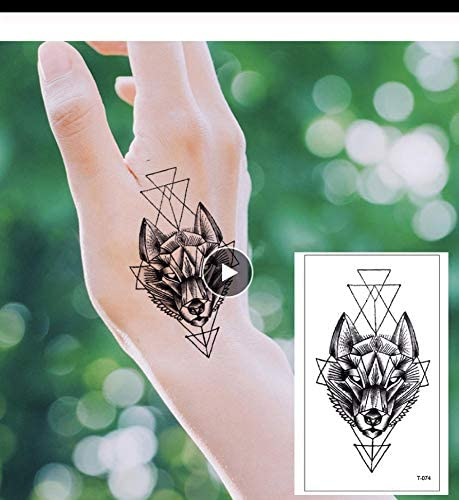 LFVGUIOP Tatuajes temporales -Colección Ola Cabeza Fresco Tatuaje ...