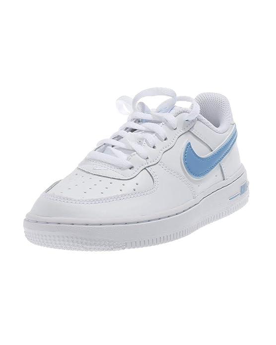 NIKE KINDER SNEAKER Schuhe Air Force 1 PS BQ2459 weiß blau