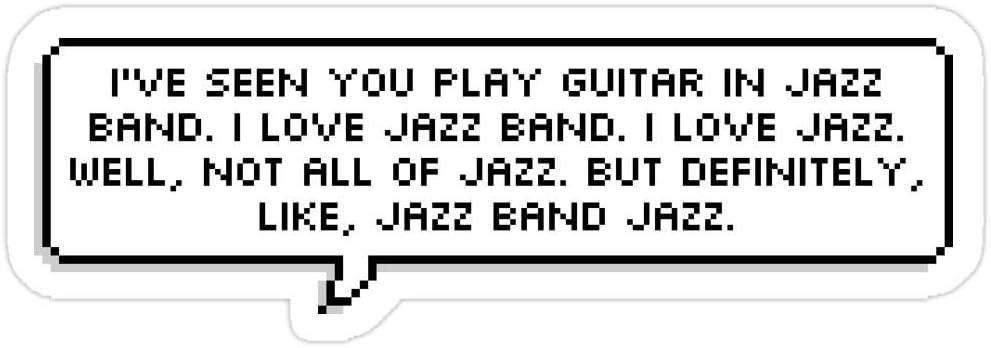 Story Storm Store Dear Evan Hansen - I Like Jazz Stickers (3 Pcs/Pack)