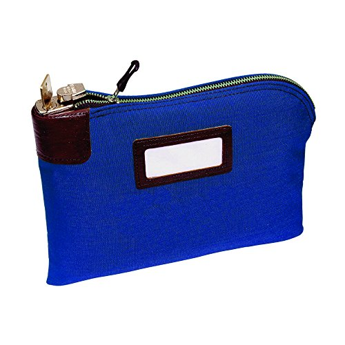 MMF Industries Seven-pin Security/Night Deposit Bag with 2 keys, 11 x 8-1/2 Inches, Royal Blue (2330881W08) ()
