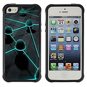 Suave TPU Caso Carcasa de Caucho Funda para Apple Iphone 5 / 5S / Neon Eggs / STRONG