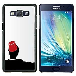 Caucho caso de Shell duro de la cubierta de accesorios de protección BY RAYDREAMMM - Samsung Galaxy A5 A5000 - Marruecos Fez Marrakech Sombrero Tarboosh