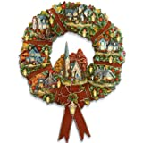 Thomas Kinkade Autumn Village Decorative Wreath: Autumn Home Decor by The Hamilton Collection