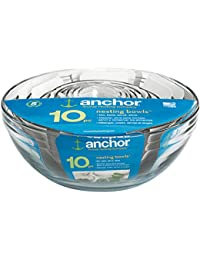 Get Anchor Hocking 10-piece Glass Elegant Classic Kitchen and Baking Mixing Bowl Set cheapest