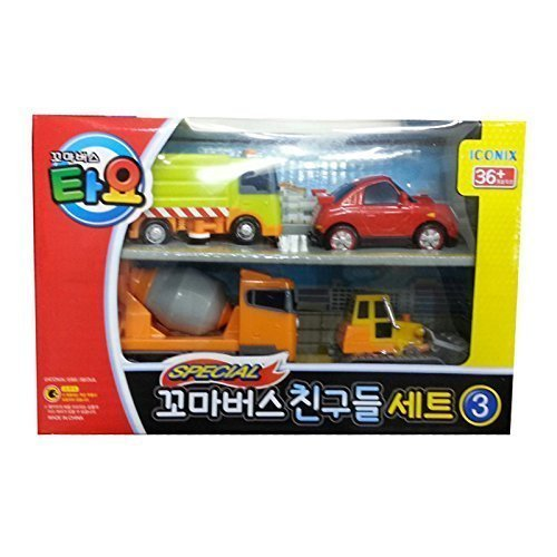 Little Bus TAYO FRIENDS Special Mini 4 Pcs No.3 Toy Set (Ruby + Chris + Speed + Billy) -  ICONIX, FBA_FRIENDS Special Mini Car