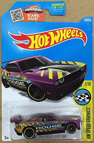 Hot Wheels 2016 H.W. Speed Graphics Compatible with Dodge Challenger Drift Car Pearl Purple 178/250