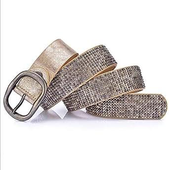 Gold Polyurethane Belt For Women