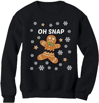Santa Hoodie Pullover Tops Unisex Ugly Christmas Gingerbread Man Snowman