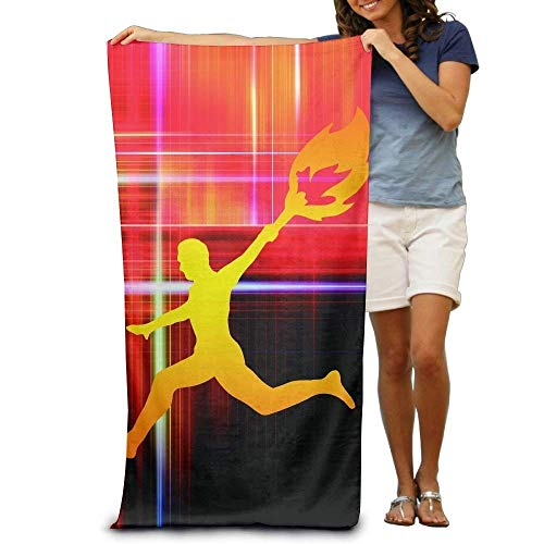 - Fond dream Super Absorbent Beach Towel Lamps Olympic Polyester Velvet Beach Towels 31 X 51 inch