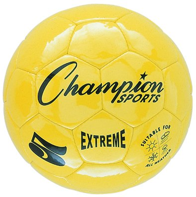 Champion Sports Extreme Series Composite Soccer Ball, Yellow, Size 3