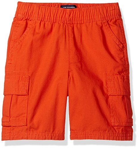 The Children's Place Baby Boys' Toddler' Pull On Cargo Shorts, Flame 60634, 5T