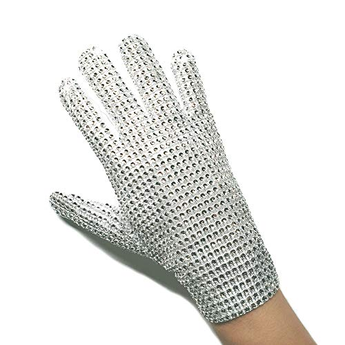 (Michael Jackson Glove Classic Billie Jean Rhinestone Punk Glove (Left)