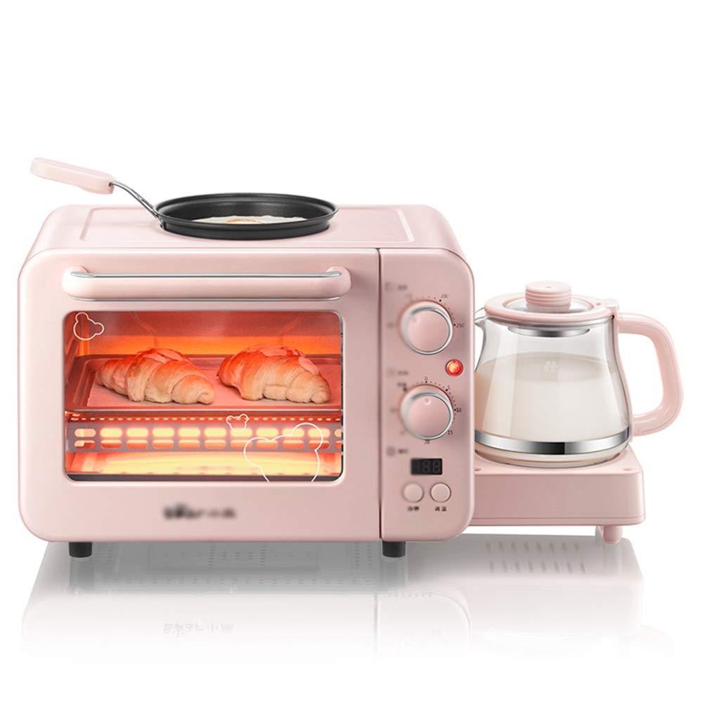 B07QPFM9WV HARDY-YI ミニオーブン多機能朝食機トースター小さな電気オーブン電気オムレツ断熱材上下チューブ調整キッチン電気オーブン