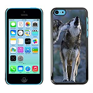 Hot Style Cell Phone PC Hard Case Cover // M00000458 Wolfs Animals Pattern // Apple iPhone 5C