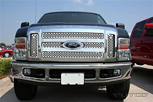- Upgrade Your Auto Putco Steel Punch Grille Overlay for 08-10 Ford F250/F350 Super Duty w/o XL/FX4