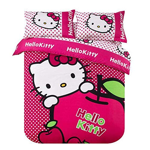 Polka Dots Hello Kitty Duvet Cover Set