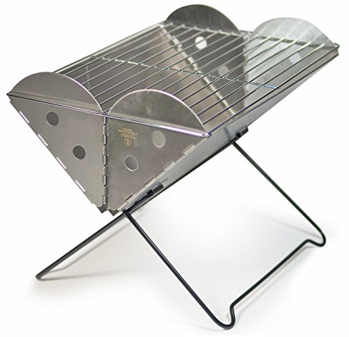 UCO Flatpack Portable Stainless Steel Grill and Fire Pit Pit Grill