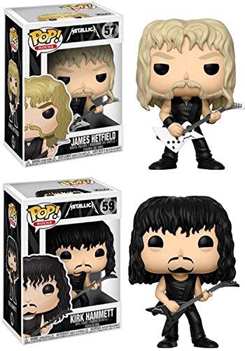 Funko POP Rocks METALLICA: James Hetfield and Kirk Hammett Toy Action Figures - 2 Piece BUNDLE