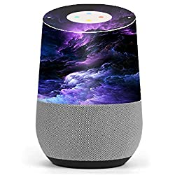 Skin Decal Vinyl Wrap for Google Home stickers skins cover/ purple storm clouds