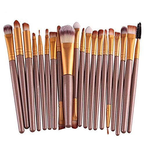 Makeup Brush Set,Han Shi 2017 Fashion 20 pcs 20pcs Make up Brushes Kits Toiletry Kit Clearance (M, Yellow)