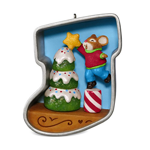 Christmas Holiday Cookie Ornament - Hallmark Keepsake 2017 Stocking Cookie Cutter Christmas Decorating the Tree Mouse Christmas Ornament