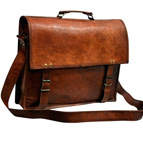 Messenger of Leather Vintage Leather Laptop Bag, Messenger Bag. 11'' x 15'' x 3.5'' by Messenger of Leather (Image #6)