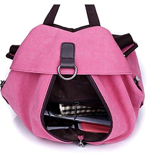 Flada - Bolso mochila  para mujer negro Rojo 2 mediano Purple 1