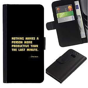 iBinBang / Flip Funda de Cuero Case Cover - Motivación Productivo Cita divertida - HTC One M8