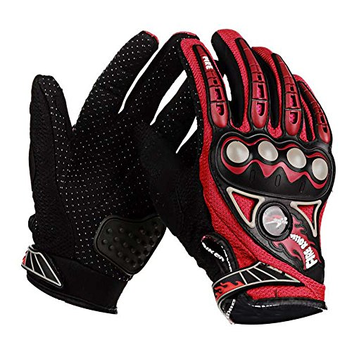 PRO-BIKER MCS23 Bike Motorcycle Outdoor Cycling Breathable Full-Finger Gloves (Red, L)