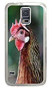 Samsung S5 case underwater cover Rooster Headshot Animal PC Transparent Custom Samsung Galaxy S5 Case Cover
