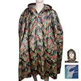 BudK Swiss Camo Wet Weather Poncho