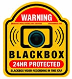 Vehicle Window Security Warning Decal Sticker - Car Black Box Mobile Surveillance CCTV Vacron Security Camera Accident Vandalism Prevention