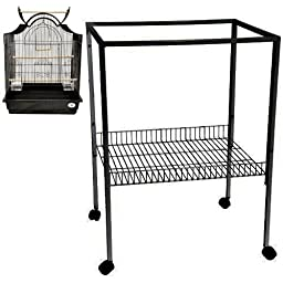 ES 8 CAGE STAND 25X21X34 bird cages toy toys parakeet parrot parakeet budgie (Black)