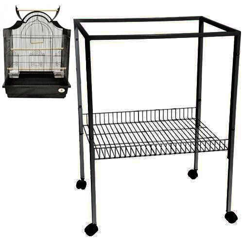 ES 8 CAGE STAND 25X21X34 bird cages toy toys parakeet parrot parakeet budgie (Black) by King's Cages