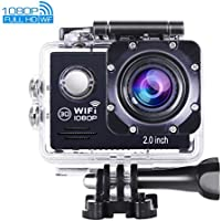OldShark Action Camera, 1080P FHD 170 Degree 12MP Wifi Sports Camera 30M Waterproof Cam DV Helmet Camcorder with 2 Batteries Bouns Sports Cam Accessories