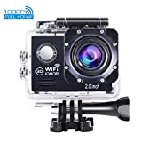 OldShark C20 Action Camera, 1080P FHD 170 Degree 12MP Wifi Sports Camera 30M Waterproof DV Camcorder with 2 Batteries Bouns Sports Cam Accessories